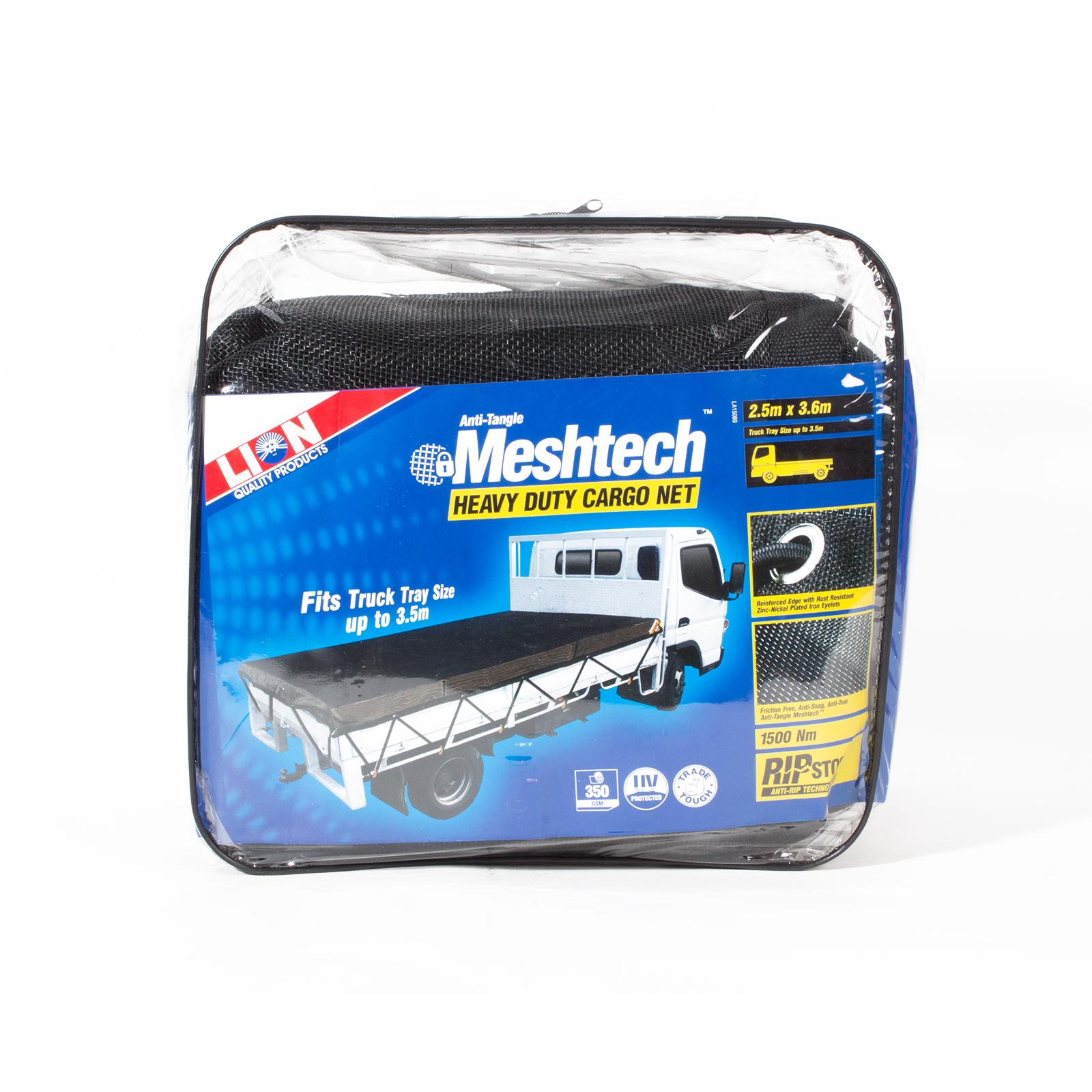 Lion 3.6 x 2.5m Meshtech 24 Hook Cargo Net