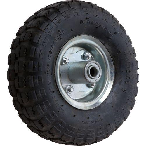 "Ambassador 5 / 8 "" Axle 3.5 x 4 Pneumatic Steel Trolley Wheel"