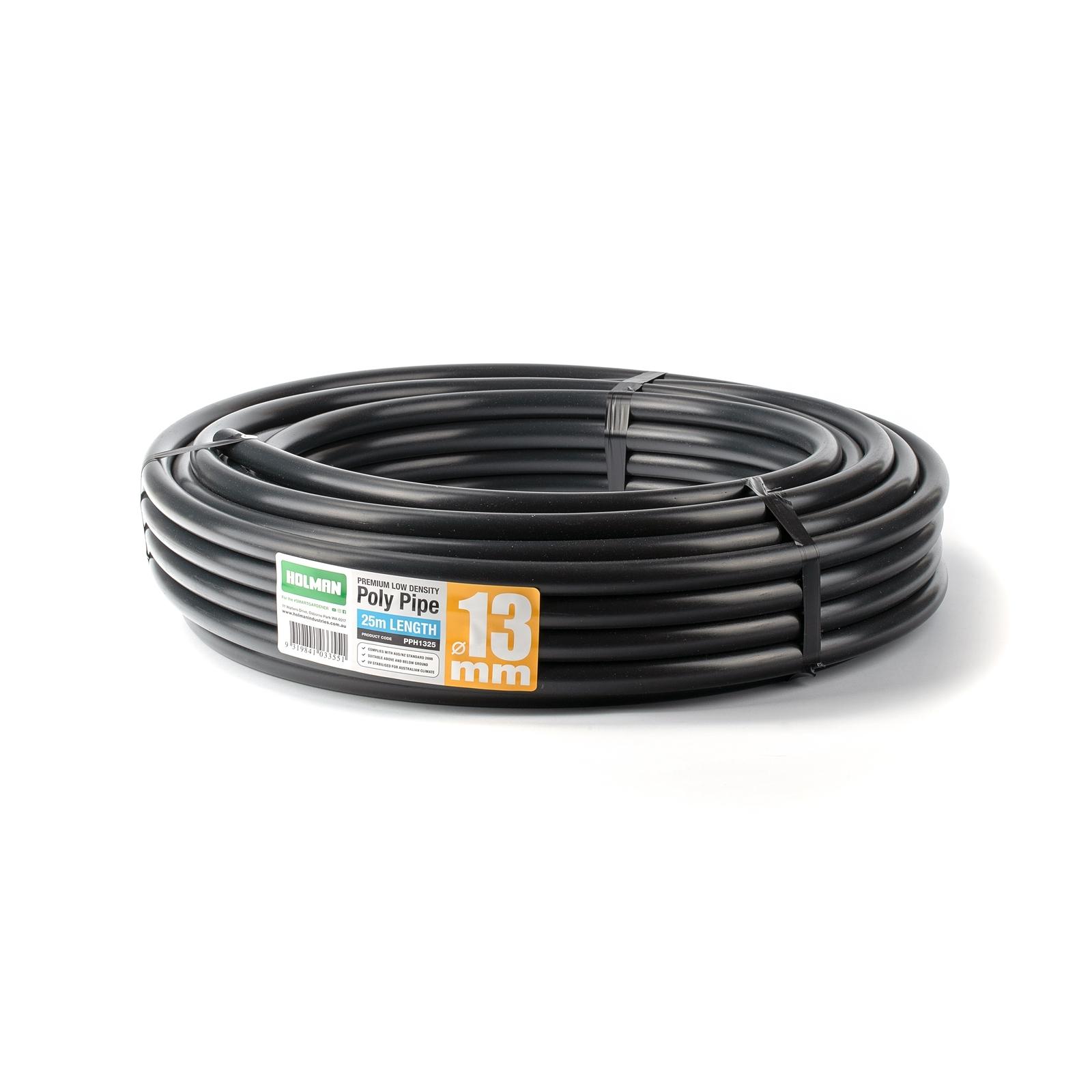 Holman 13mm x 25m Black Poly Pipe