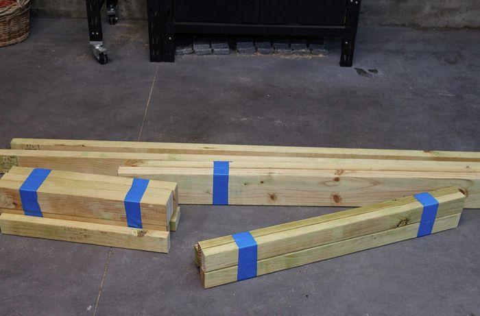 DIY Step Image - How to build a D.I.Y. timber garden arbour . Blob storage upload.