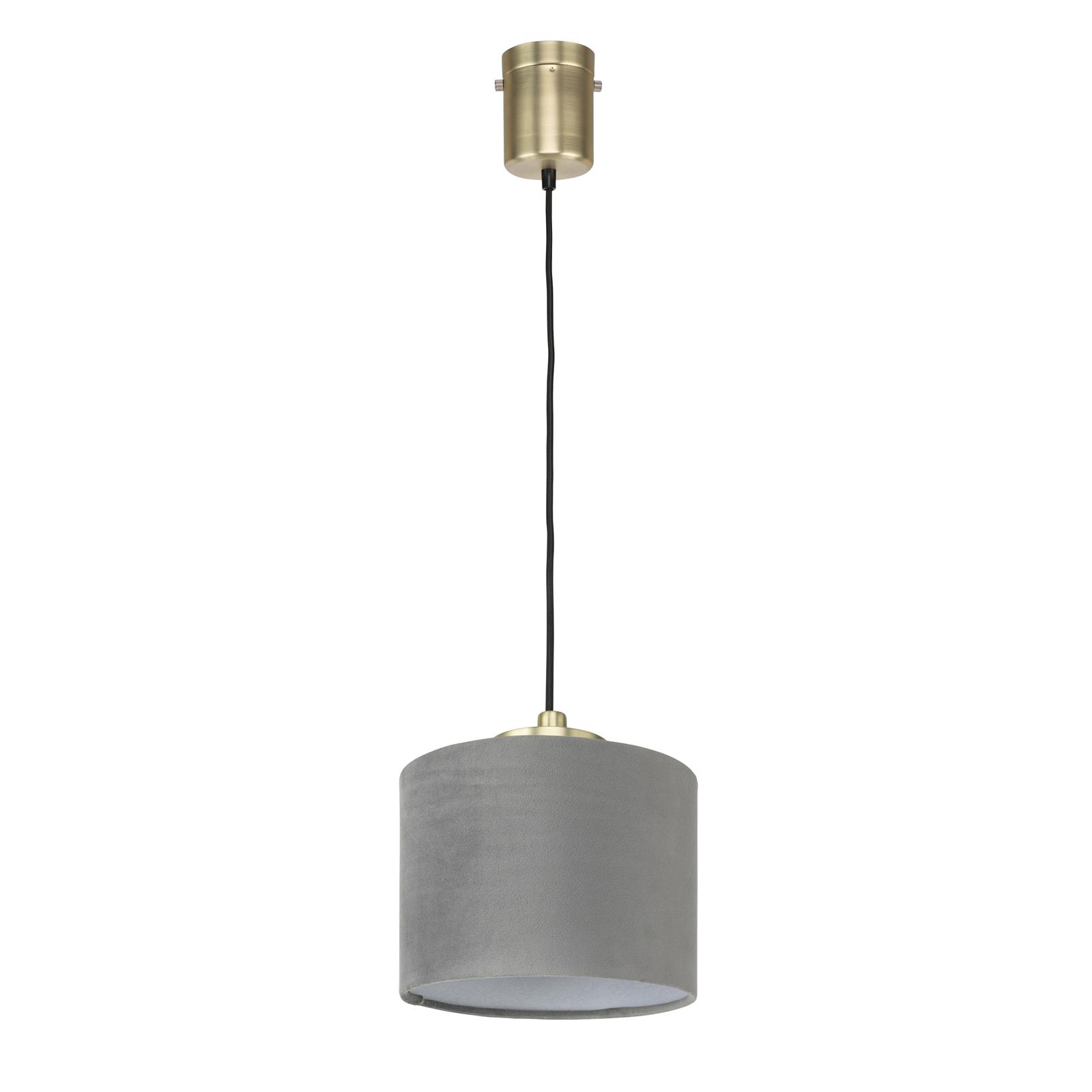 Brilliant Grey Velvet Small Sonnet DIY Pendant Light