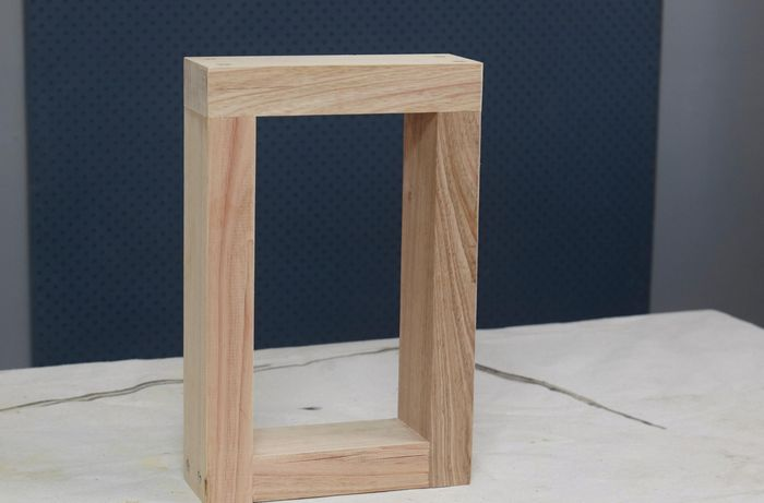DIY Step Image - How to make D.I.Y. dining table bench seats. Blob storage upload.
