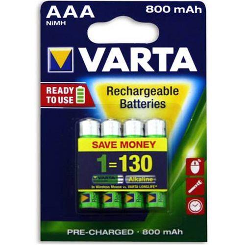 Varta AAA Rechargeable Batteries 4 Pack