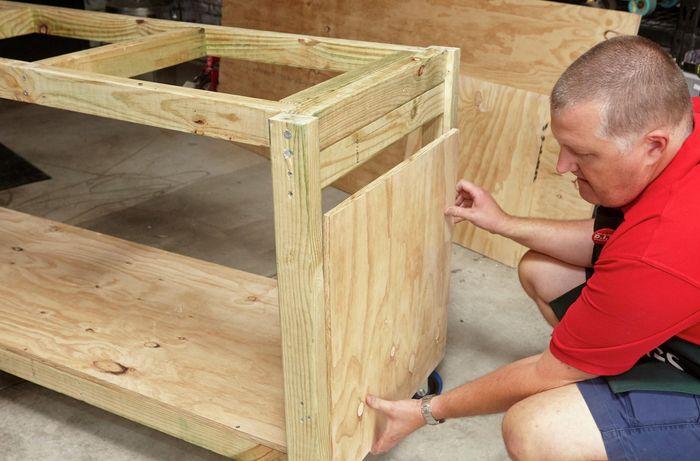 DIY Step Image - D.I.Y. portable workbench . Blob storage upload.
