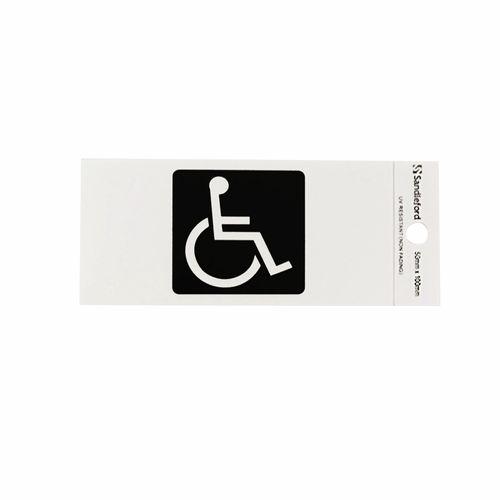 Sandleford 100 x 50mm Disabled Symbol Silver Self Adhesive Sign