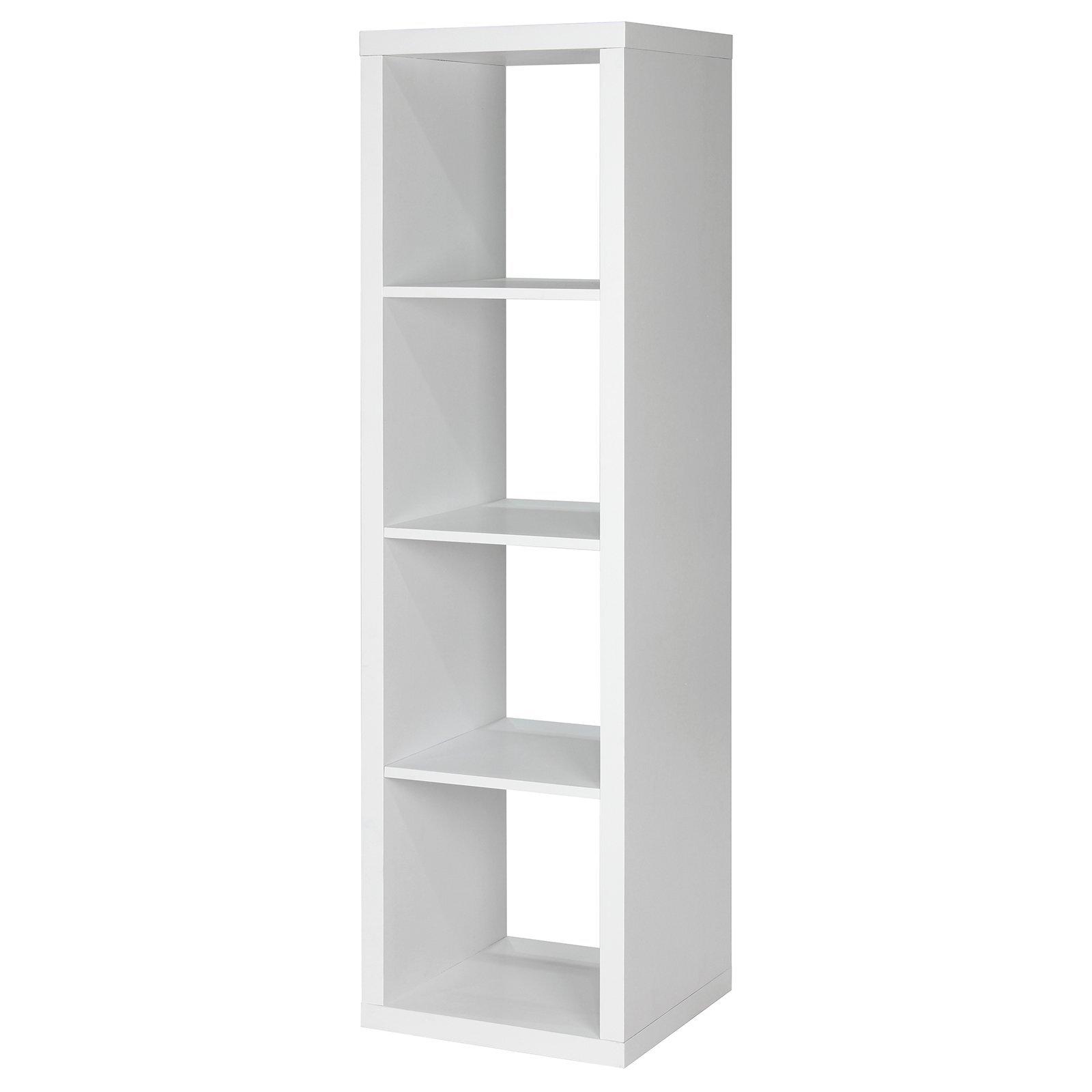 Flexi Storage Clever Cube 1 x 4 Storage Unit - White