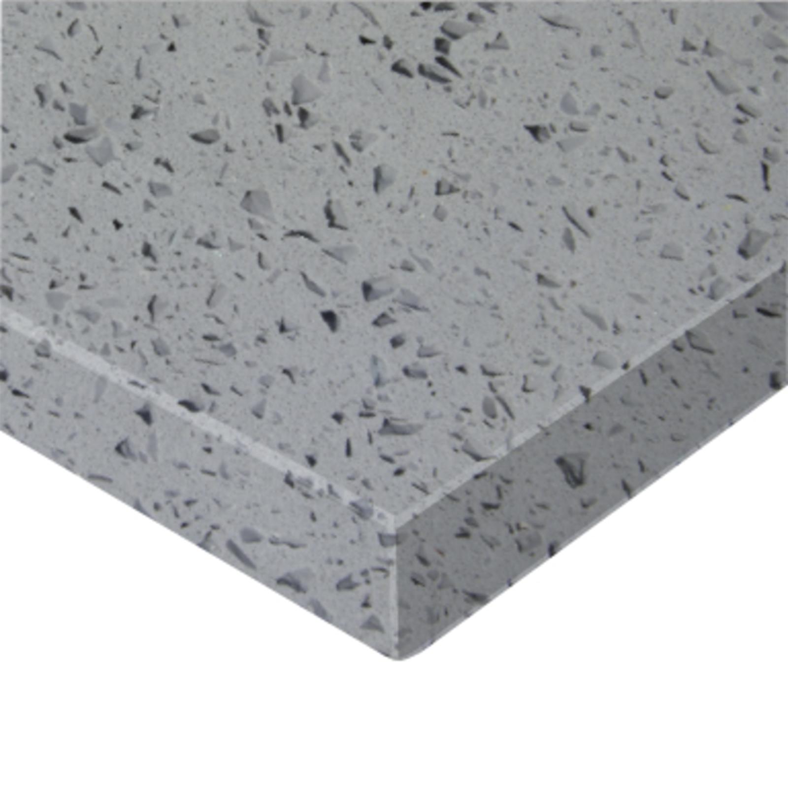 Essential Stone 20mm Round Savvy Stone Benchtop - Crystal Grey