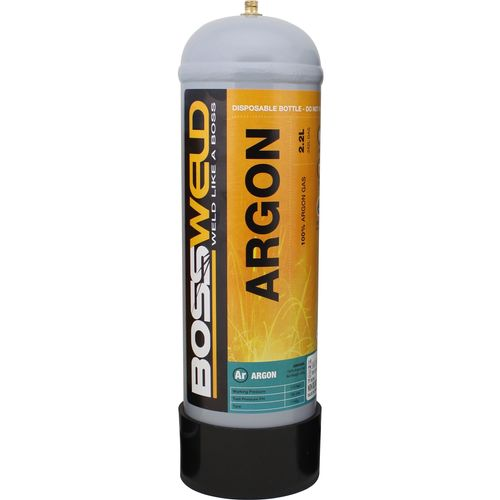 Bossweld 2.2L Pure Argon Disposable Gas Bottle