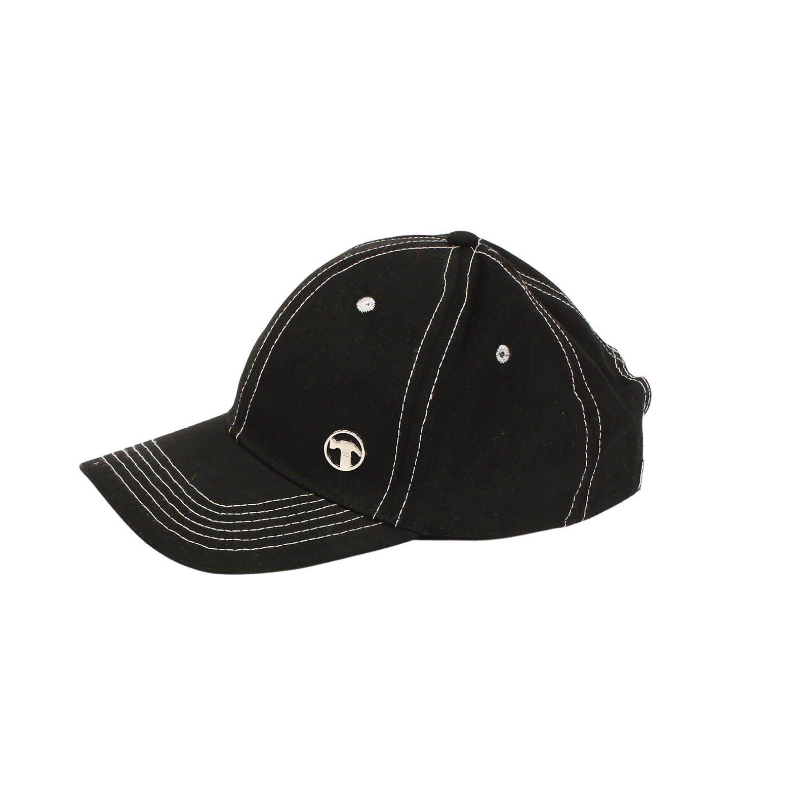 Bunnings Black Cap with Metal Pin