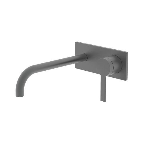 Greens Gun Metal Penny Wall Basin Mixer with Faceplate