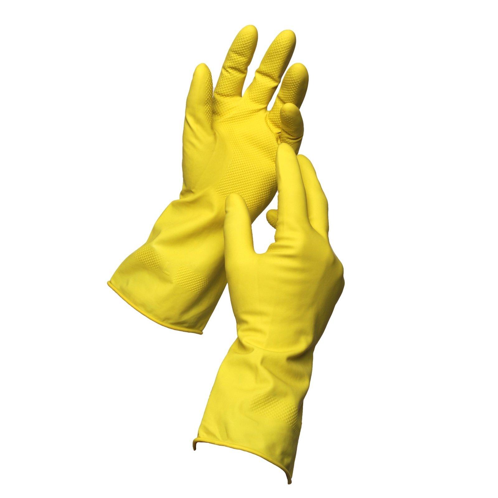 Sabco Medium Latex Handy Gloves - 3 Pairs