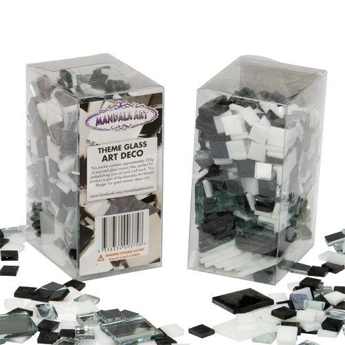 Mandala Art 500g Assorted Size Art Deco Theme Mosaic Glass Tiles
