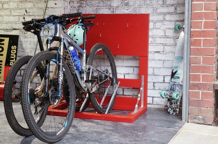 DIY Step Image - D.I.Y. multiple bike rack . Blob storage upload.