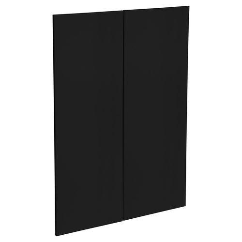 Kaboodle 900mm Black Olive Modern Medium Pantry Door - 2 Pack