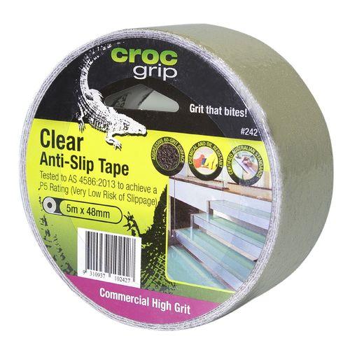 Croc Grip 5m x 48mm Clear Anti-Slip Tape