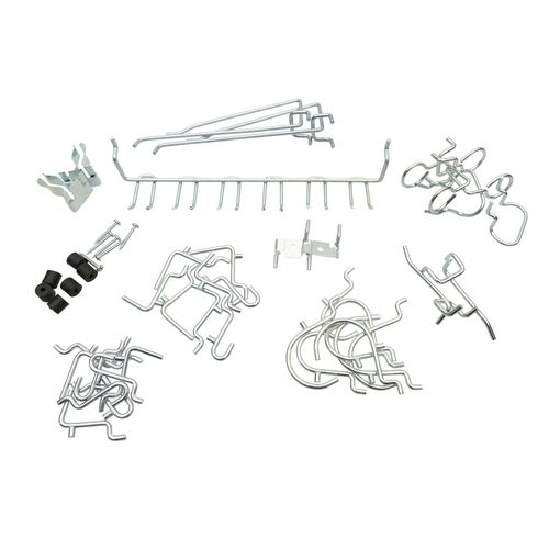 Zenith Zinc Plated Assorted Pegboard Hooks Kit - 47 Pack