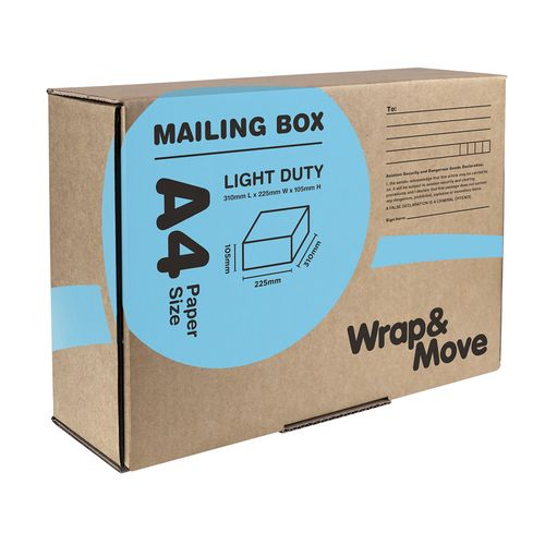 Wrap & Move 310 x 225 x 105mm A4 Mailing Box