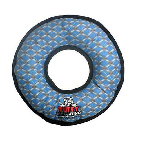Chain Link Tuffy Mega Ring Soft Tough Strong Dog Toy for Dogs & Puppies Scale 10
