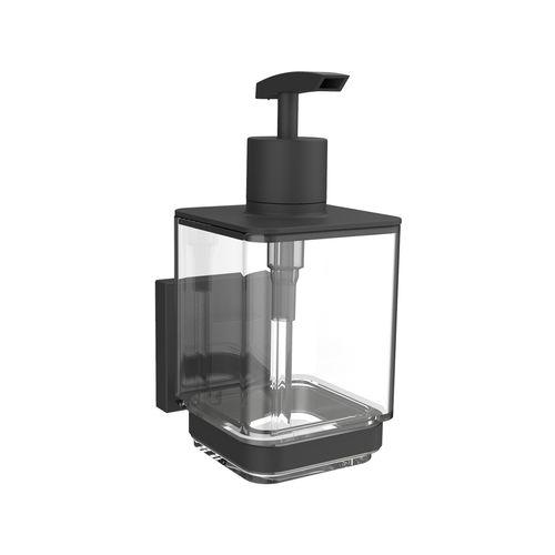 Fusion-Loc Matte Black Suction Liquid Soap Dispenser