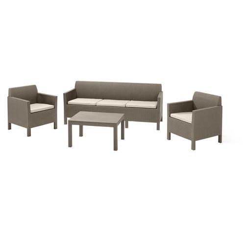Keter Cappuccino Orlando 5 Seater Lounge Set