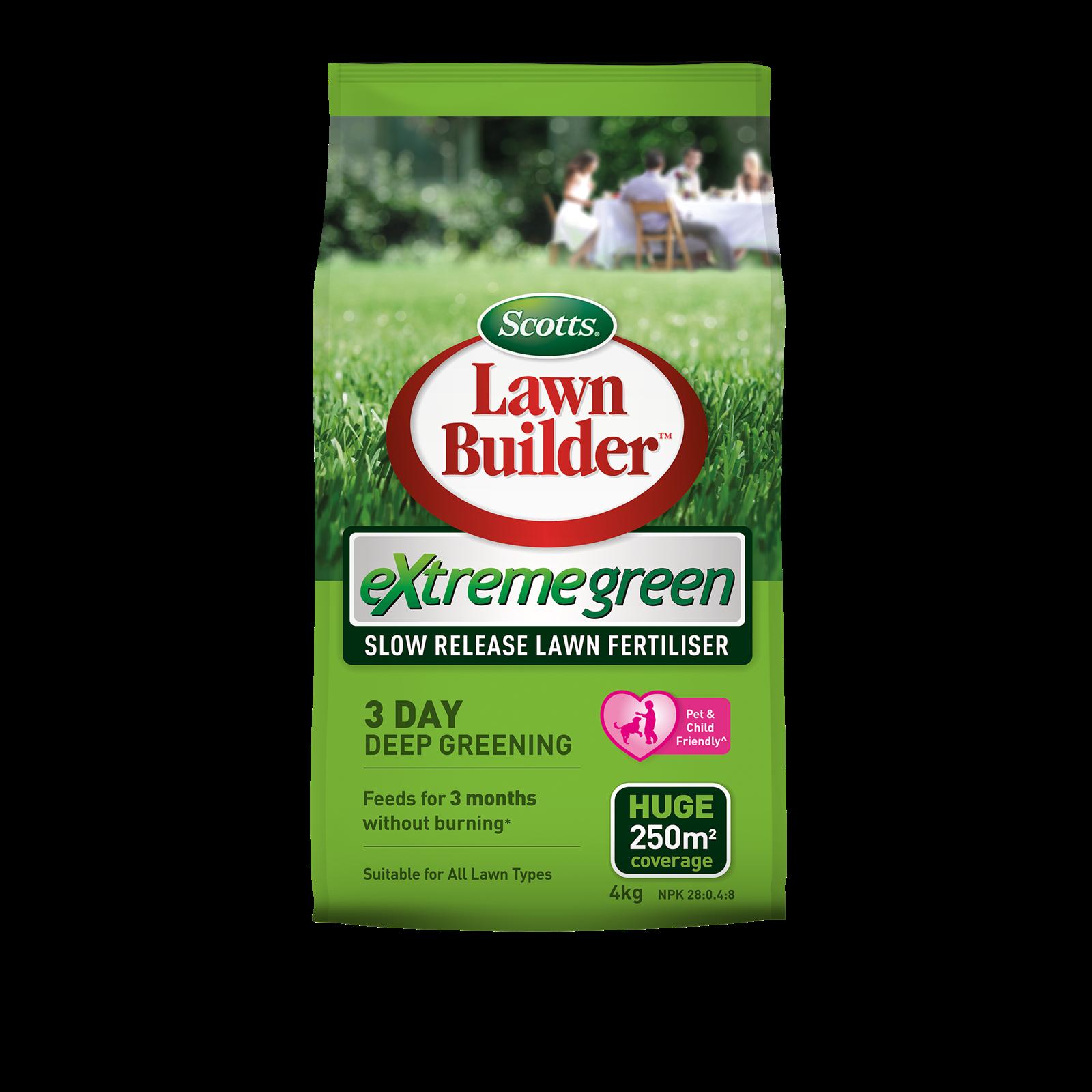 Scotts Lawn Builder 4kg Extreme Green Slow Release Lawn Fertiliser