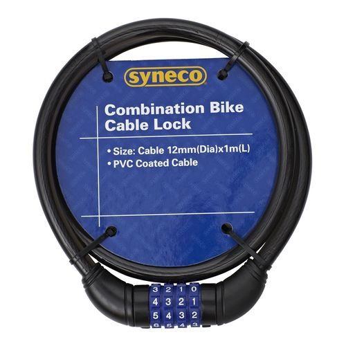 Syneco 12mm x 1m Bicycle Lock Combination