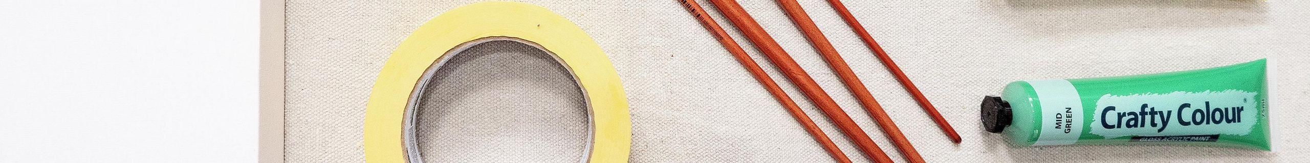 Flatlay of craft materials.