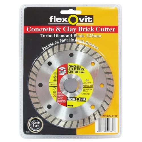 Concrete and Clay Brick Cutter 125 x 22mm