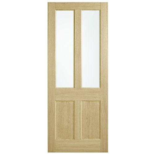 Corinthian Doors 920 x 2340 x 40mm Blonde Oak AWO 7G Translucent Glass Entrance Door