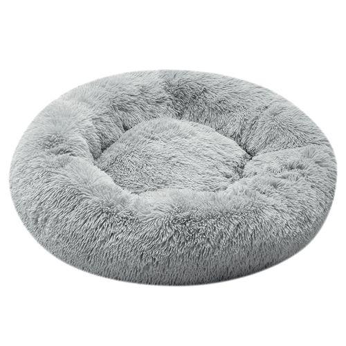 Cooper & Co. Pet 90cm Jumbo Round Soothing Pet Bed Grey