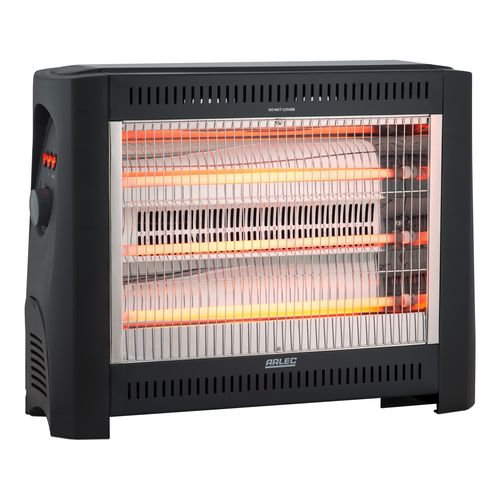 Arlec 2400W Radiant Heater With Adjustable Thermostat And Fan Boost