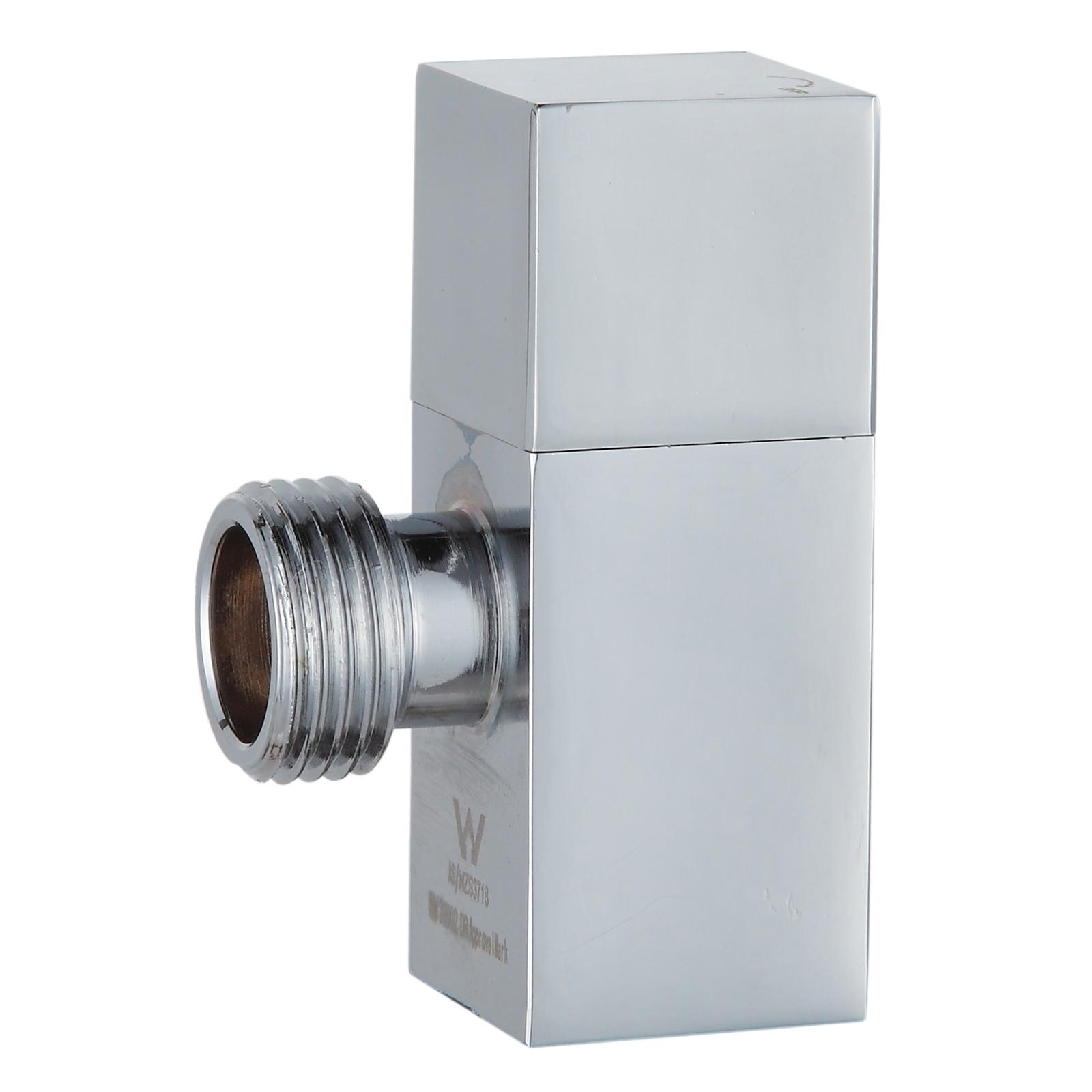 Kinetic 15mm Chrome Mini Cistern Cock Square