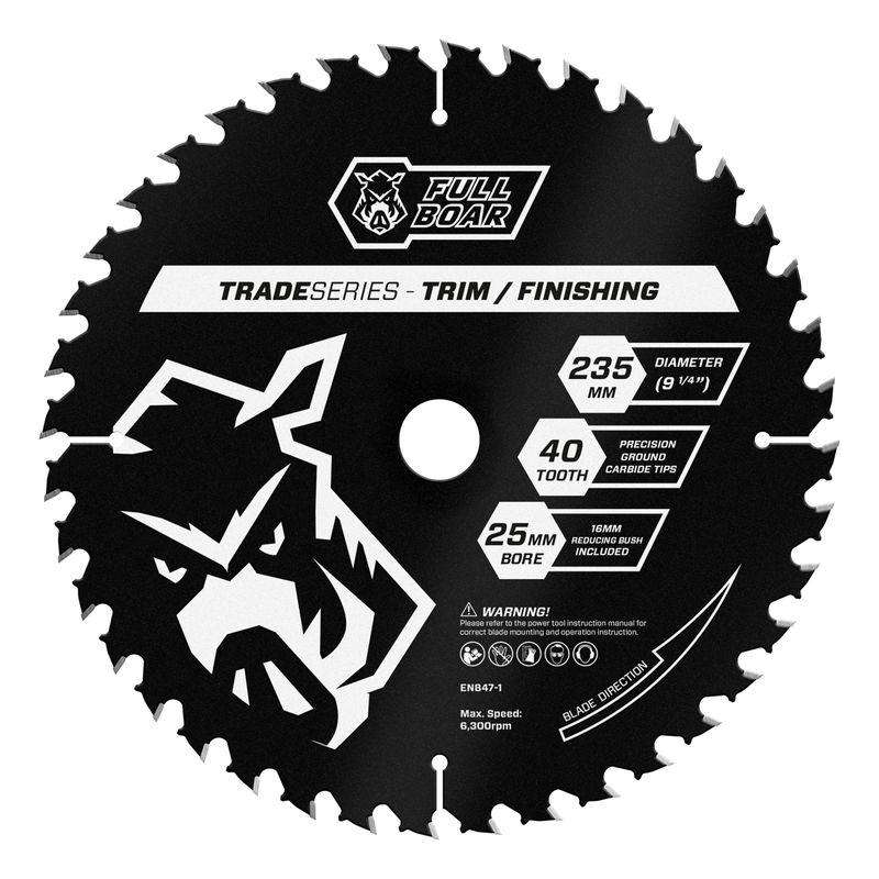 235mm 40t Trade Series Circular Saw Blade