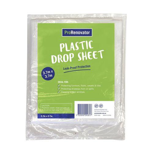 Monarch 3.7 x 3.7m Pro Renovator Plastic Drop Sheet