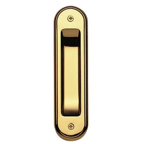 Gainsborough Bright Goldtone Radius Flush Pull - 2 Pack