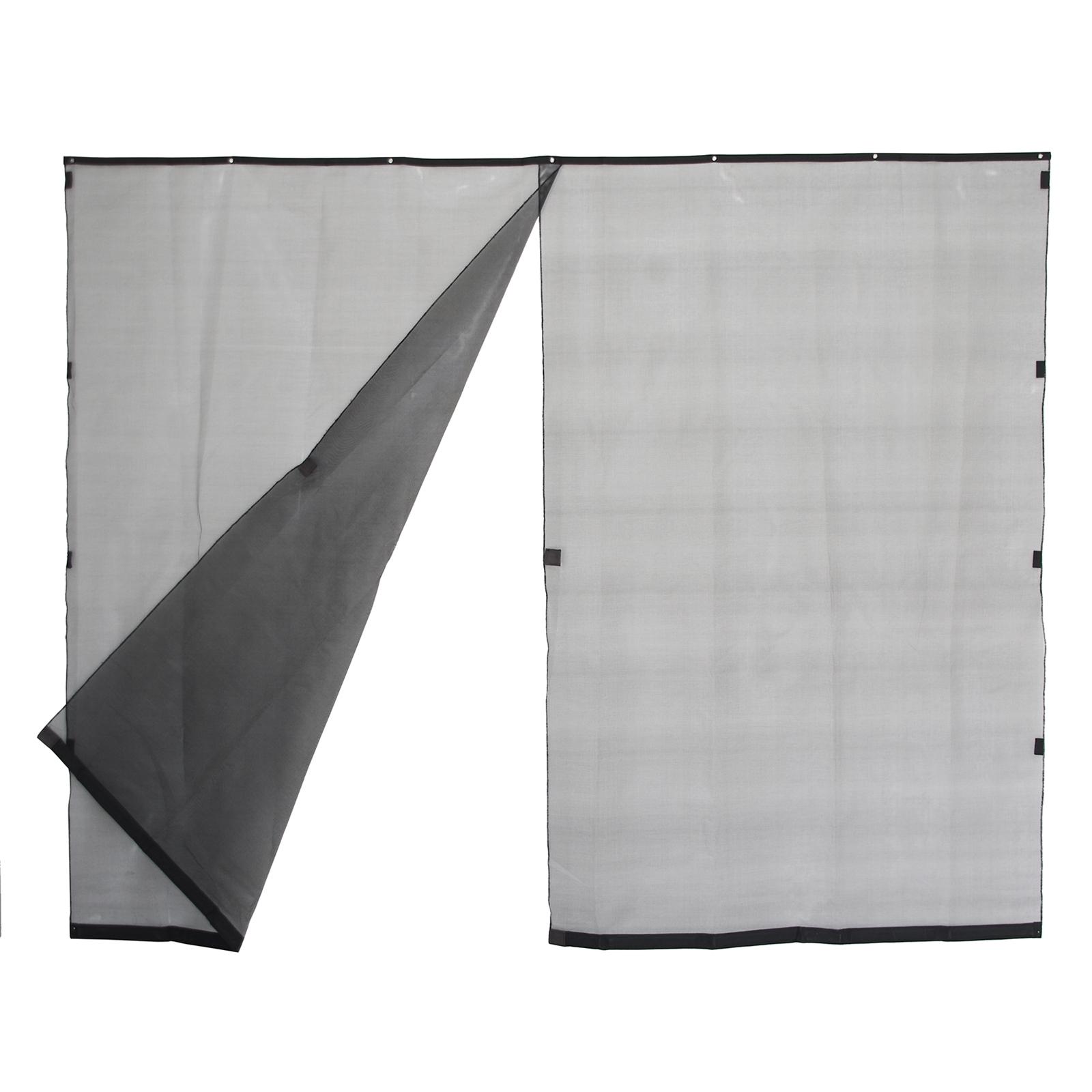 Pillar 300 x 240cm Black Magnetic Patio Curtain