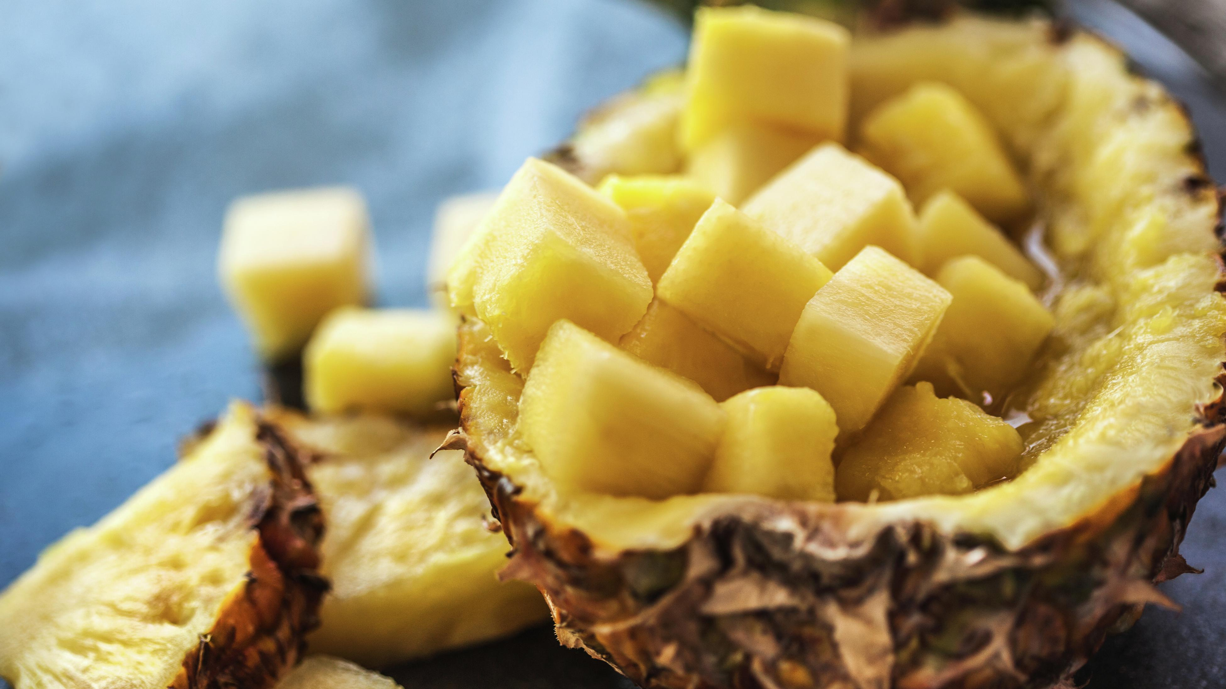 Pineapple cut into chunks