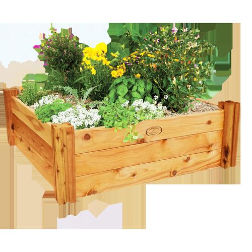 Birdies 800 x 800 x 300mm Heritage Timber Raised Garden Bed