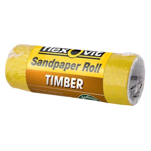 Flexovit 100mm x 1m 120 Grit Timber Sandpaper Roll