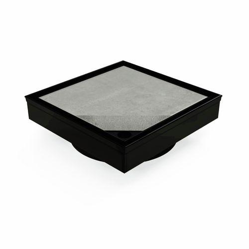 Forme 110 x 110mm Black Satin Stainless Steel Tile Insert Floor Waste