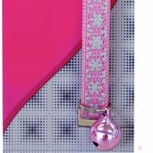 Cat Collar Pink Snow Nylon Reflective - 15cm-22.5cm x 10mm (Pet One)