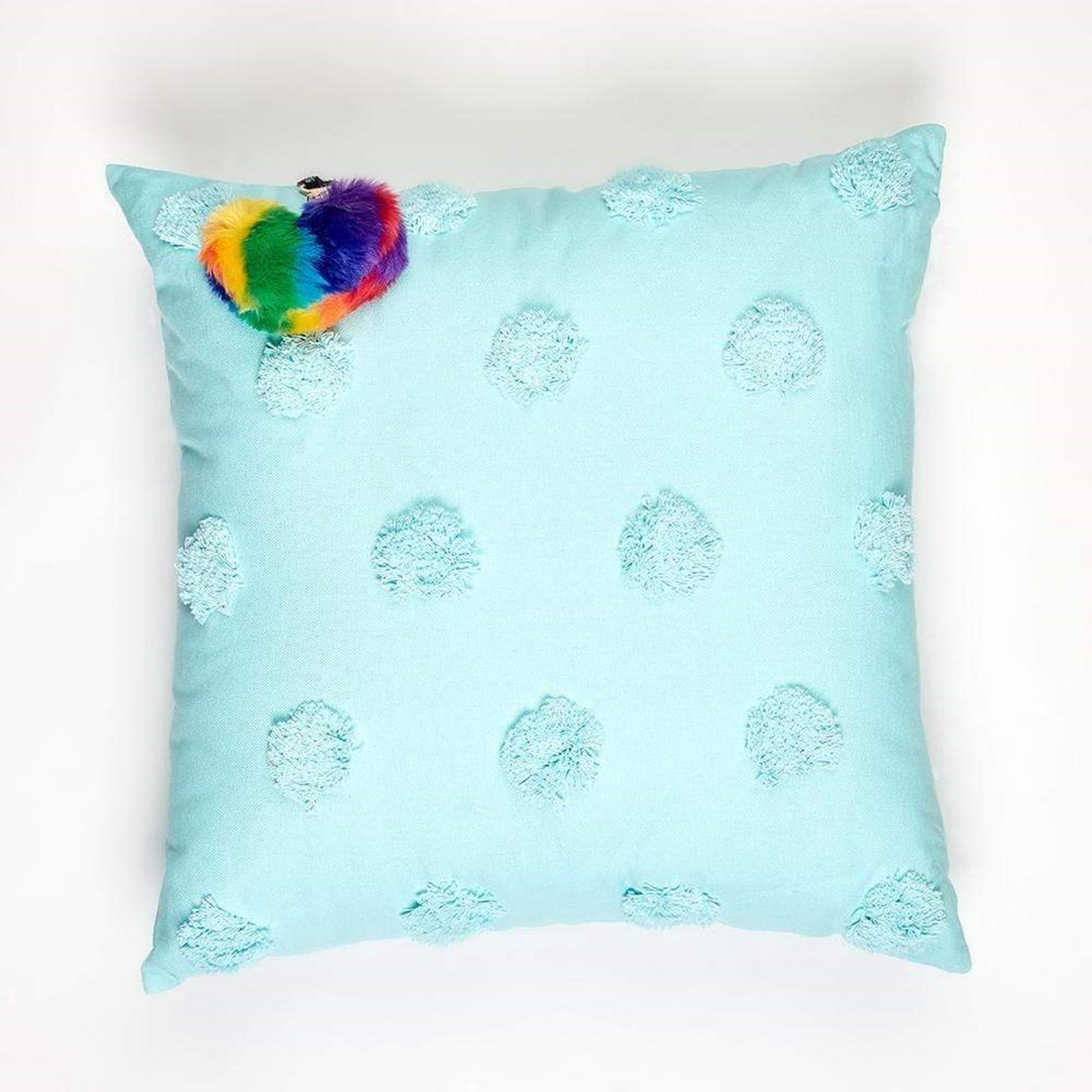 Jewelchic Toggle Cushion Aqua