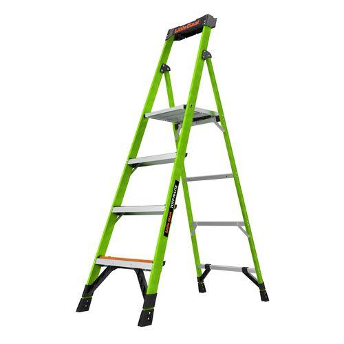 Little Giant 6ft Large 4 Step Tuff-N-Lite Fibreglass Platform Step Ladder