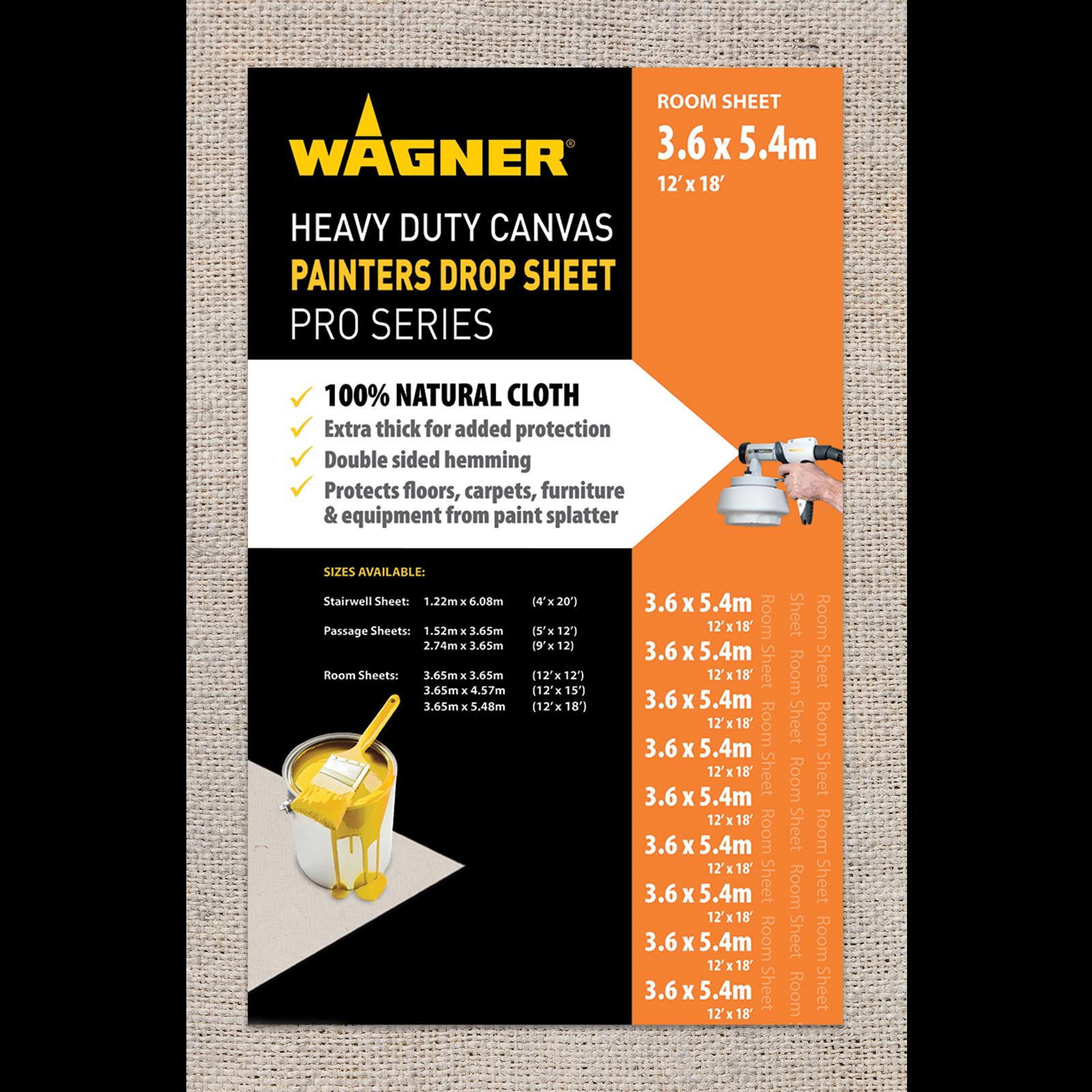 Wagner 3.65 x 5.48m Heavy Duty Canvas Drop Sheet