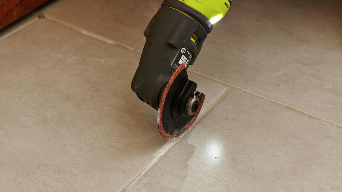 DIY Step Image - How to remove grout . Blob storage upload.