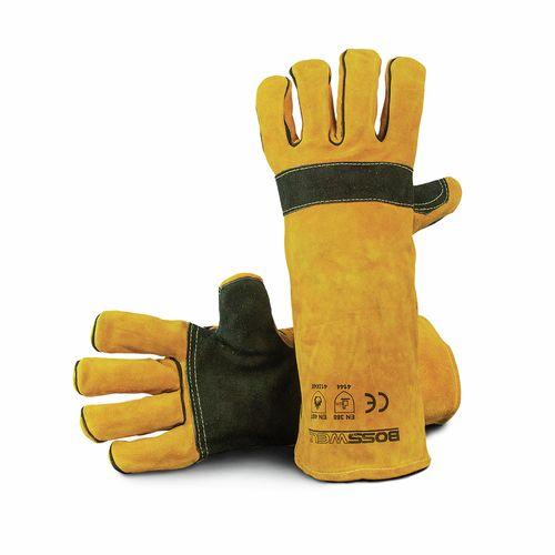 """Bossweld 16"""" Yellow Premium Welding Gloves"""