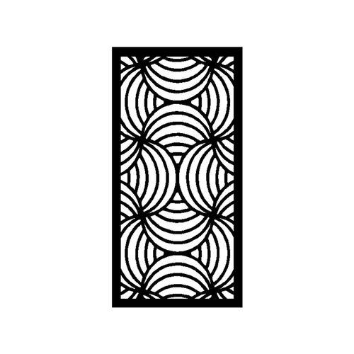 1200 x 2400mm ACP Profile 10 Decorative Panel Unframed - Gloss Black