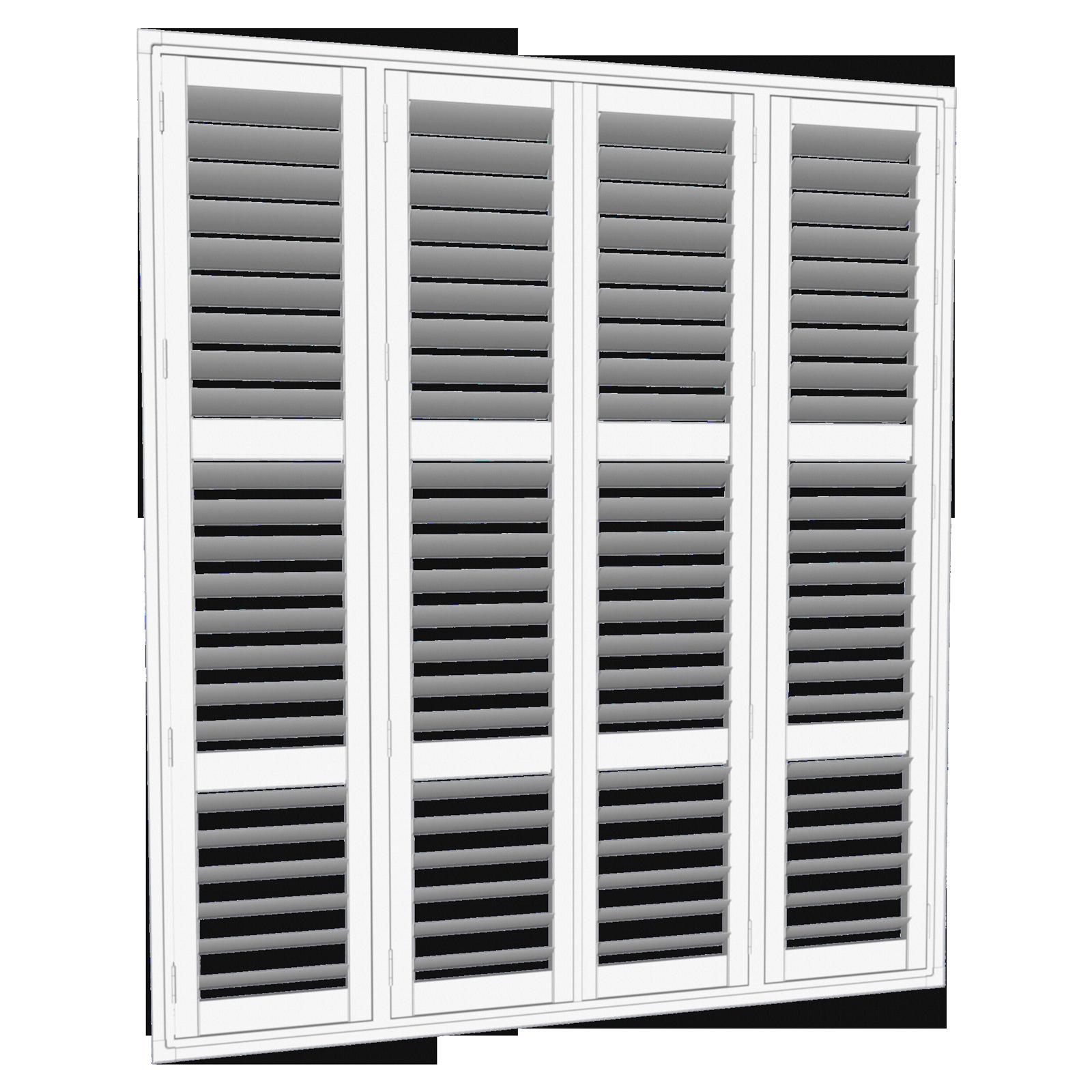 EasyAS 3500 x 2850mm White Adjustable Custom Plantation Shutters
