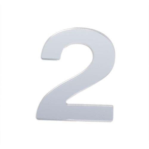 Sandleford 25mm 2 Silver Self Adhesive Numeral