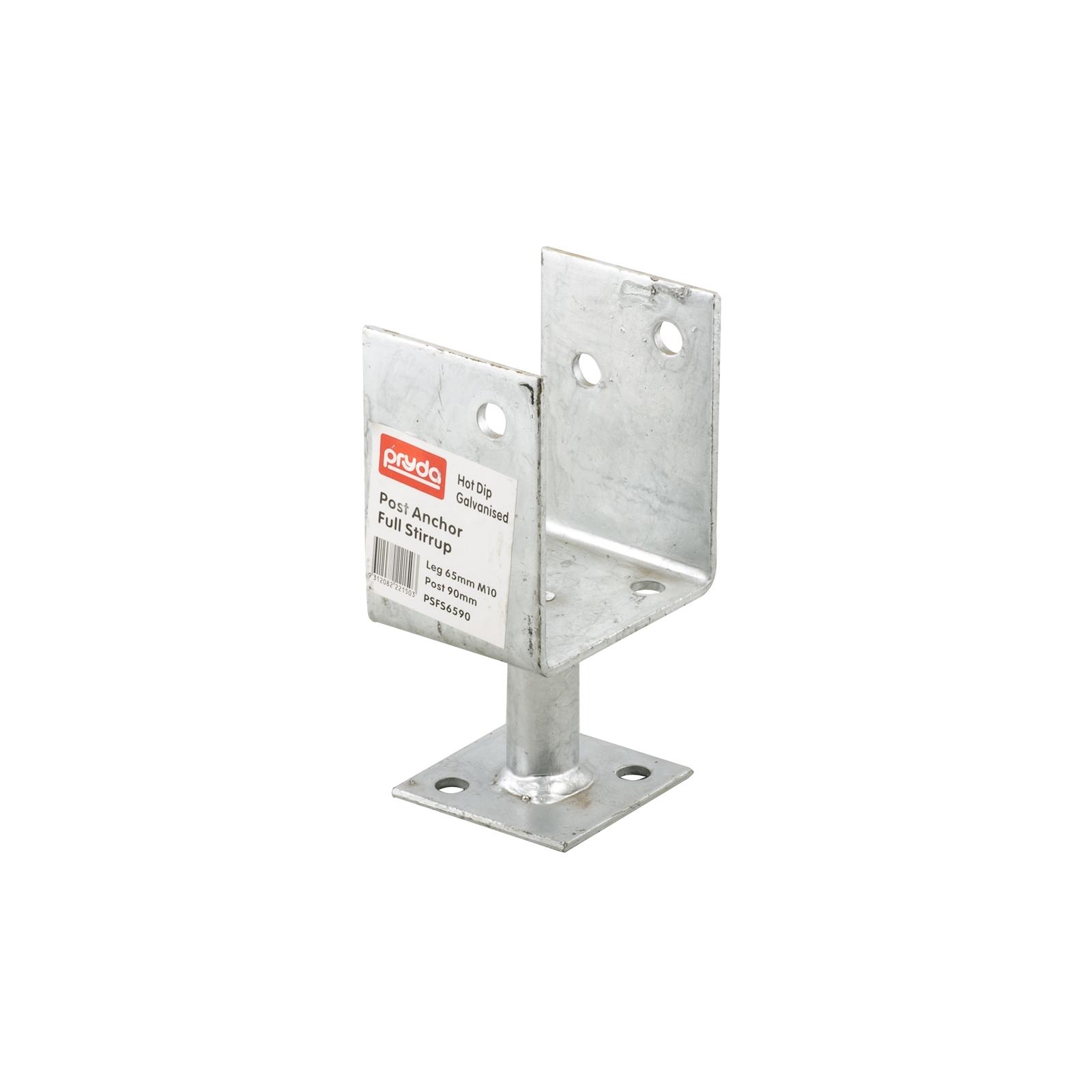 Pryda Post Anchor Full Stirrup 65 x 90mm M10